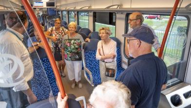 Open dag in Valkenburg op 28 augustus 2019, interesse in de treinen.