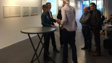 wethouder Paul Blokhuis en Greet Bouman (directeur/bestuurder Stimenz)