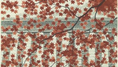Rode acer - Tanaka Ryohei, 1989. 30 x 30 cm, privécollectie