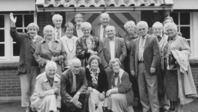 Reünie in 1988 van verzetsmensen van het Cultureel Verzet op De Spar.