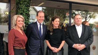Michelle Baats (gemeente Leudal), Lodewijk Asscher, Minister Van Engelshoven en wethouder Martens.