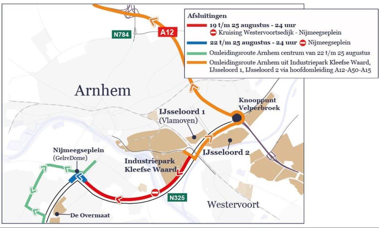 Afsluiting N325 Pleyroute - provincie Gelderland