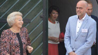 Prinses Beatrix met voorzitter Henk Tissing.
