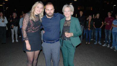 Van links naar rechts Jaléne, Willian en Monique  Schiphorst.