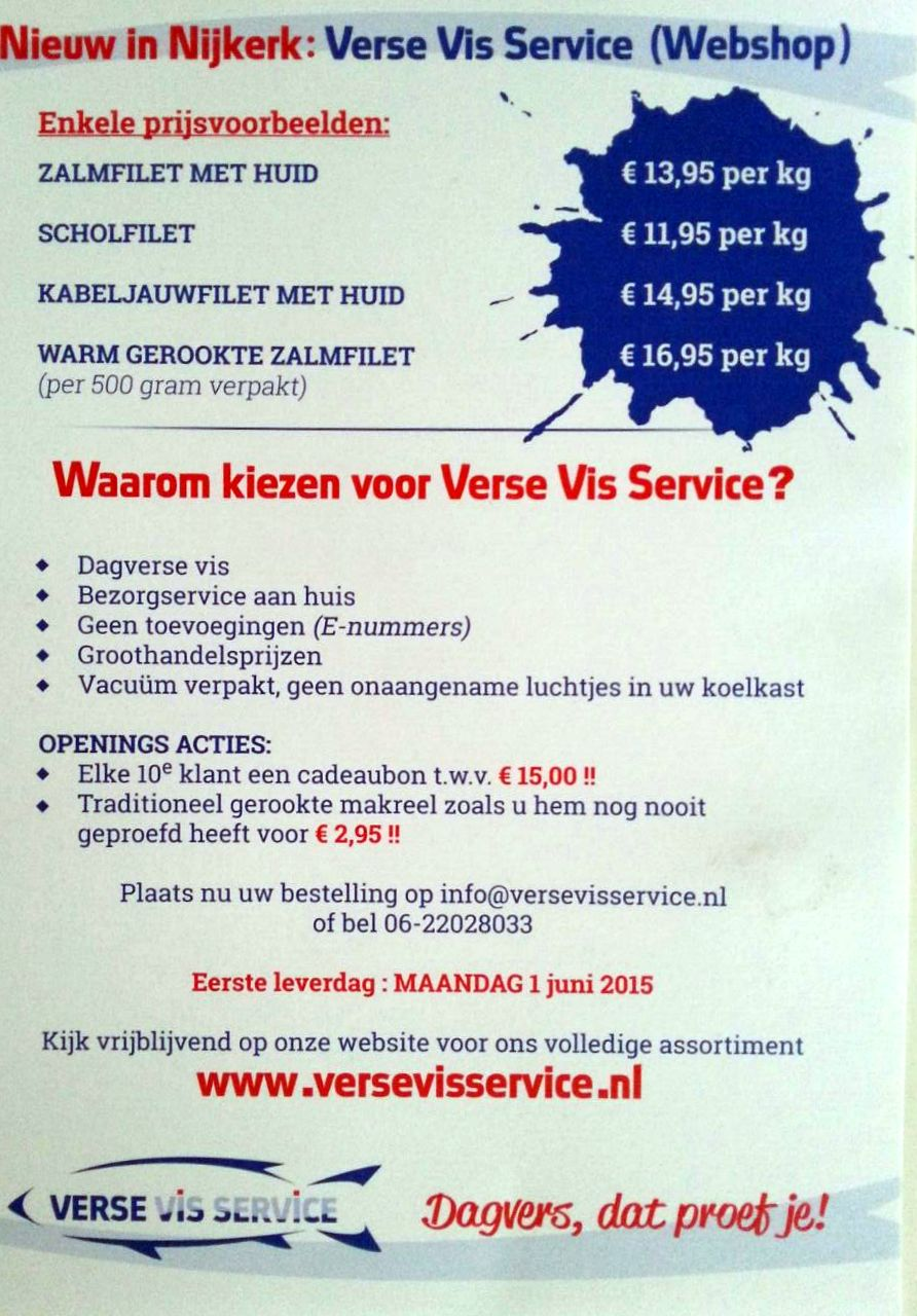 verse vis service advertentie