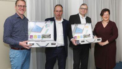 v.l.n.r.: Gert-Jan de Lange, Tim Kollen, Theo Tolboom, Patricia van Loozen,