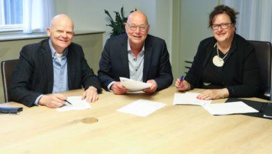v.l.n.r.: Peter van Verseveld, Dick Schouten en Patricia van Loozen