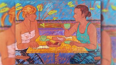 schilderij van Anémone de Castro