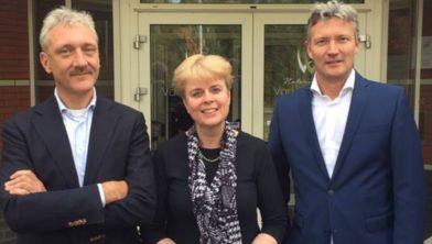 v.l.n.r.: Guido van den Bos, Alerta Schroten en Rik van der Weij