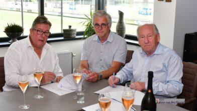 vlnr Bert Veer, Jan van Leuveren, Gerard van den Tweel