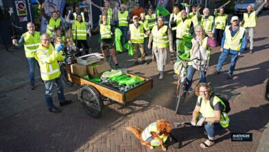 19-09-2020 WORLD CLEAN UP DAY: NIJKERK Start Clean Up day en Clean Up Challenge. Lions. Profile Ridder. Zwerfafvalbrigade. Foto: Lioins - Mathilde Dusol