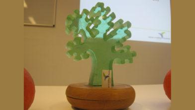Wisselbokaal Groene Pluim NMFF - ontwerp Vincent van Ginneke