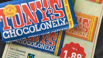 Tony's Chocolonely voor dumpprijs op de markt.