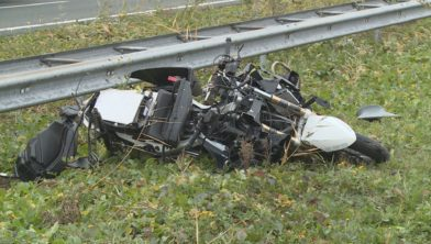 De motor is zwaar beschadigd.