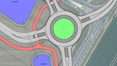 situatietekening aanleg rotonde Muntweg / Kuinderweg