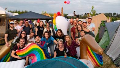 De vriendengroep uit Midden Nederland bij de Unicorn