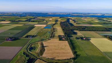 Lucht foto Schokland (één van de ansichtkaarten)