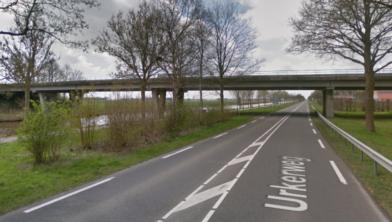 Brug in provinciale weg Hannie Schaftweg.