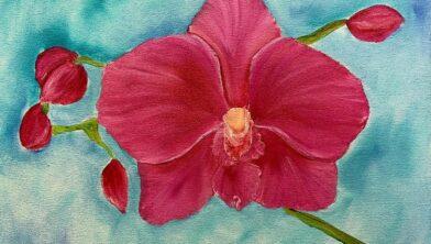 Voorbeeld geschilderde orchidee