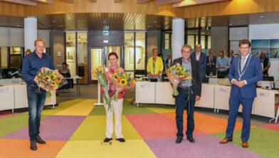 V.l.n.r.: Tom Langenberg, Helga Wiedijk, Henk van der Line en Roger de Groot.
