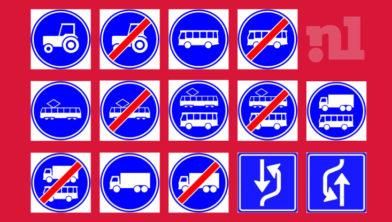 De 14 nieuwe verkeersborden