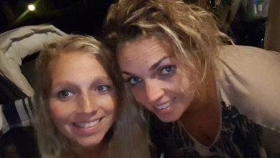 Chantal en haar zus Tamara