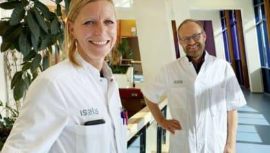 Dr. Jolanda Lammers en dr. Paul Groeneveld, onderzoekers en internist-infectiologen