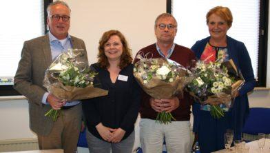Wethouder Priem, Tanja van Driel, Anton Barsken en Maria Wassink