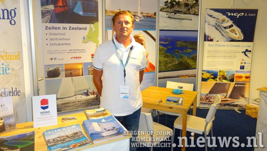 Lennart Rijksen van Venturi Sailing op Hiswa te water 2017 in Amsterdam