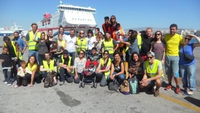 Dankbare vluchtelingen en vrijwilligers die zich voor hen inzetten
