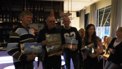 Ton, Karel, Richard en Mariëlle met hun winnende foto's