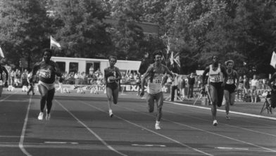 Nelli (links) NK 100 meter 1986