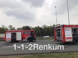 brandende truck