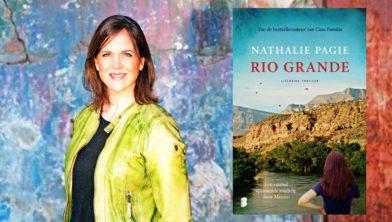 Nathalie Pagie met haar thriller Rio Grande
