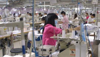 Productie atelier voor goedkope kleding