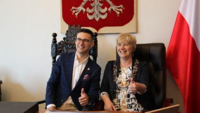 Burgemeesters Grzegorz Kulbicki en Agnes Schaap