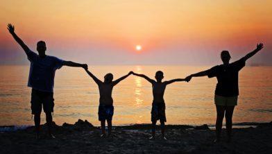 Summer Happy Sunset Beach Happiness Family