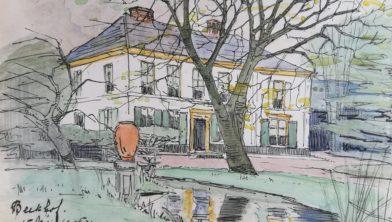 Beekhof, in 1905 geschilderd door Lucie van Dam van Isselt