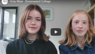 Amber en Rebeccah (Vinty Wear) maakten herbruikbare mondkapjes van gerecycled materiaal