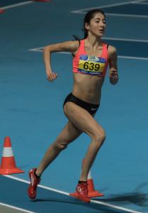 NK Indoor Junioren AB - 28.02.2015 - Apeldoorn 3000 Meter MB Finale 1e Jasmijn Lau - Ciko '66 9:50.91