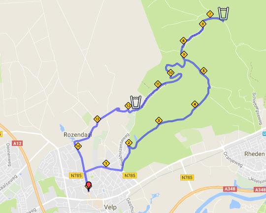 Posbankloop route