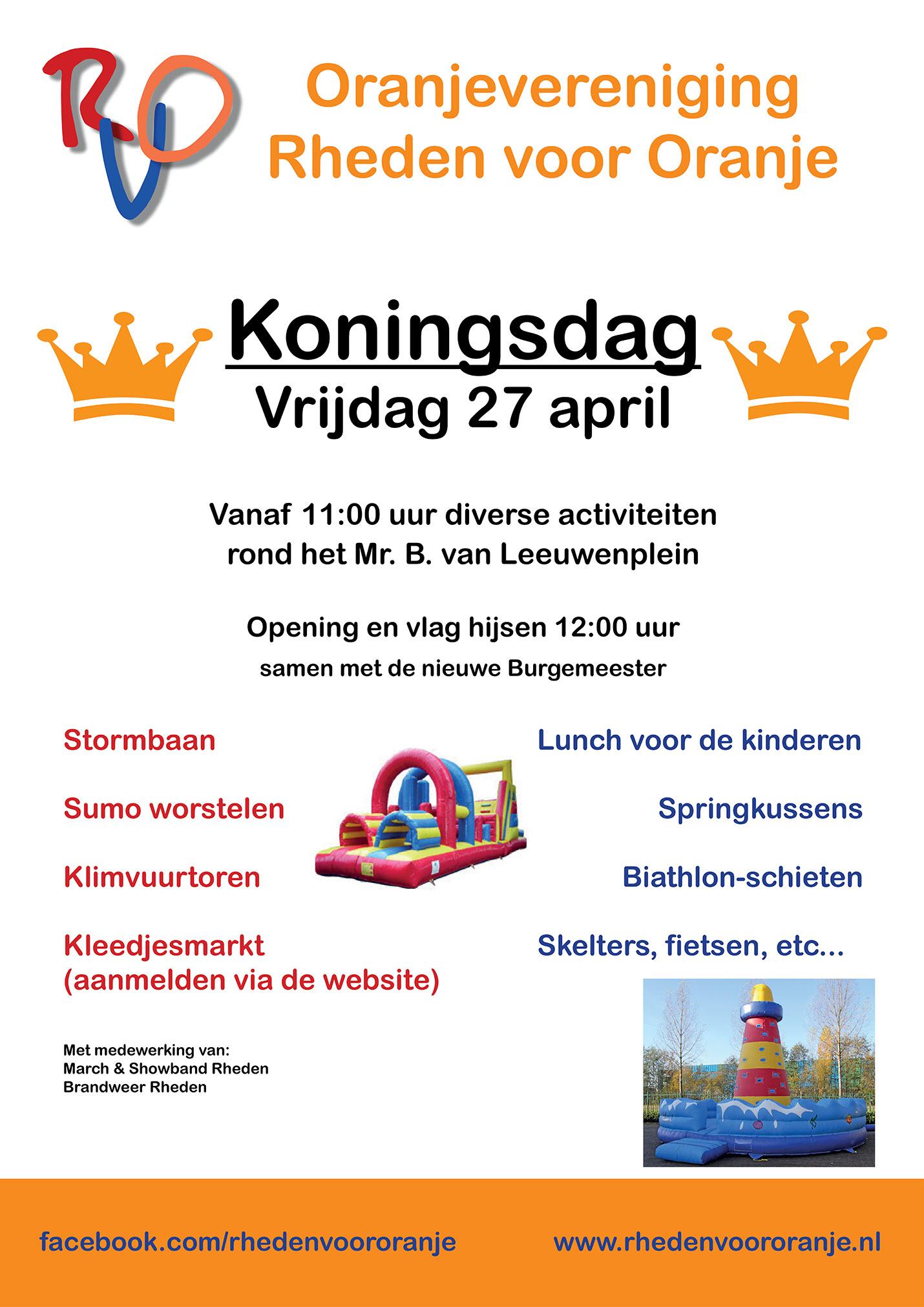 Programma Koningsdag Rheden
