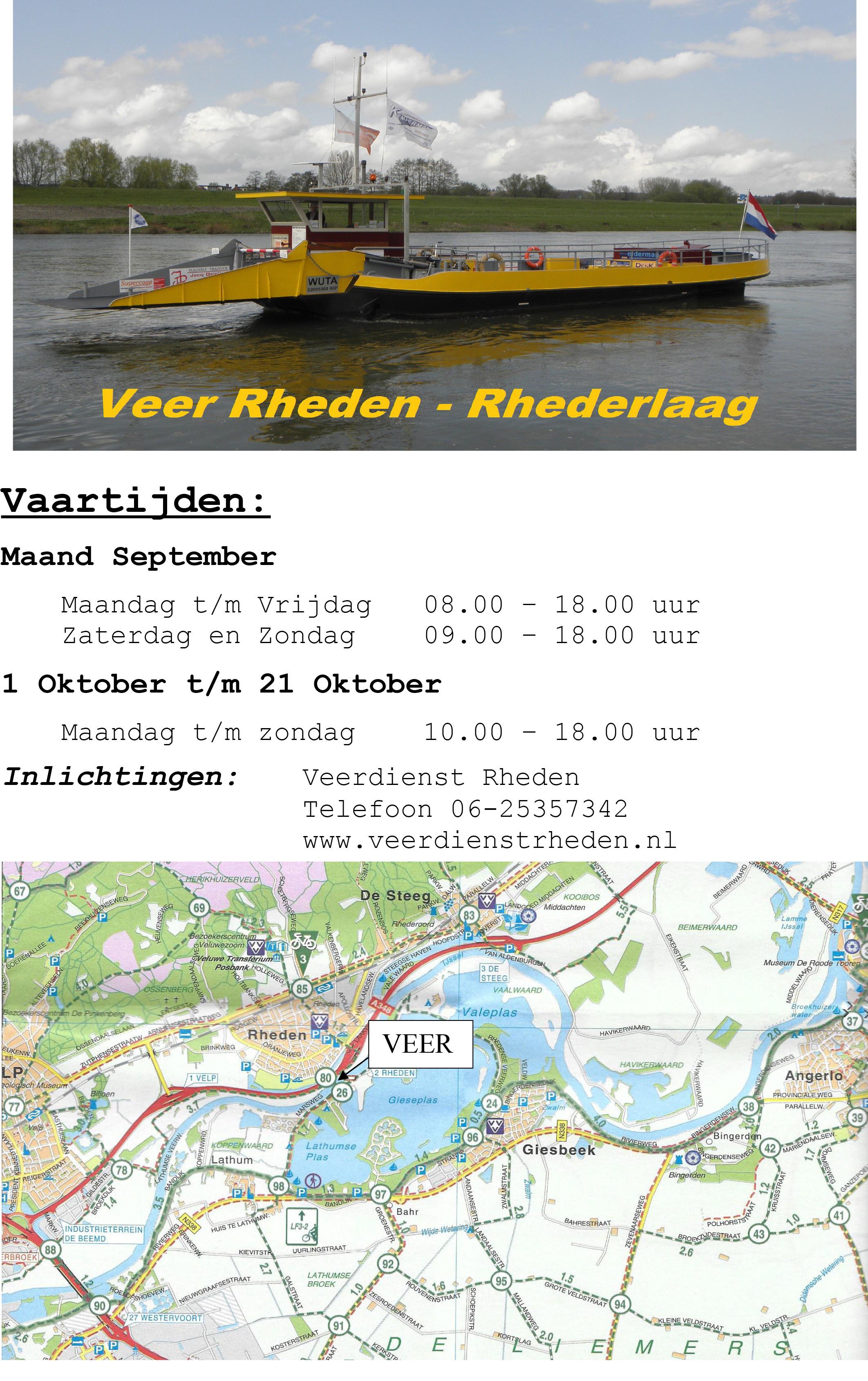 Veerdienst Rheden-Rhederlaag