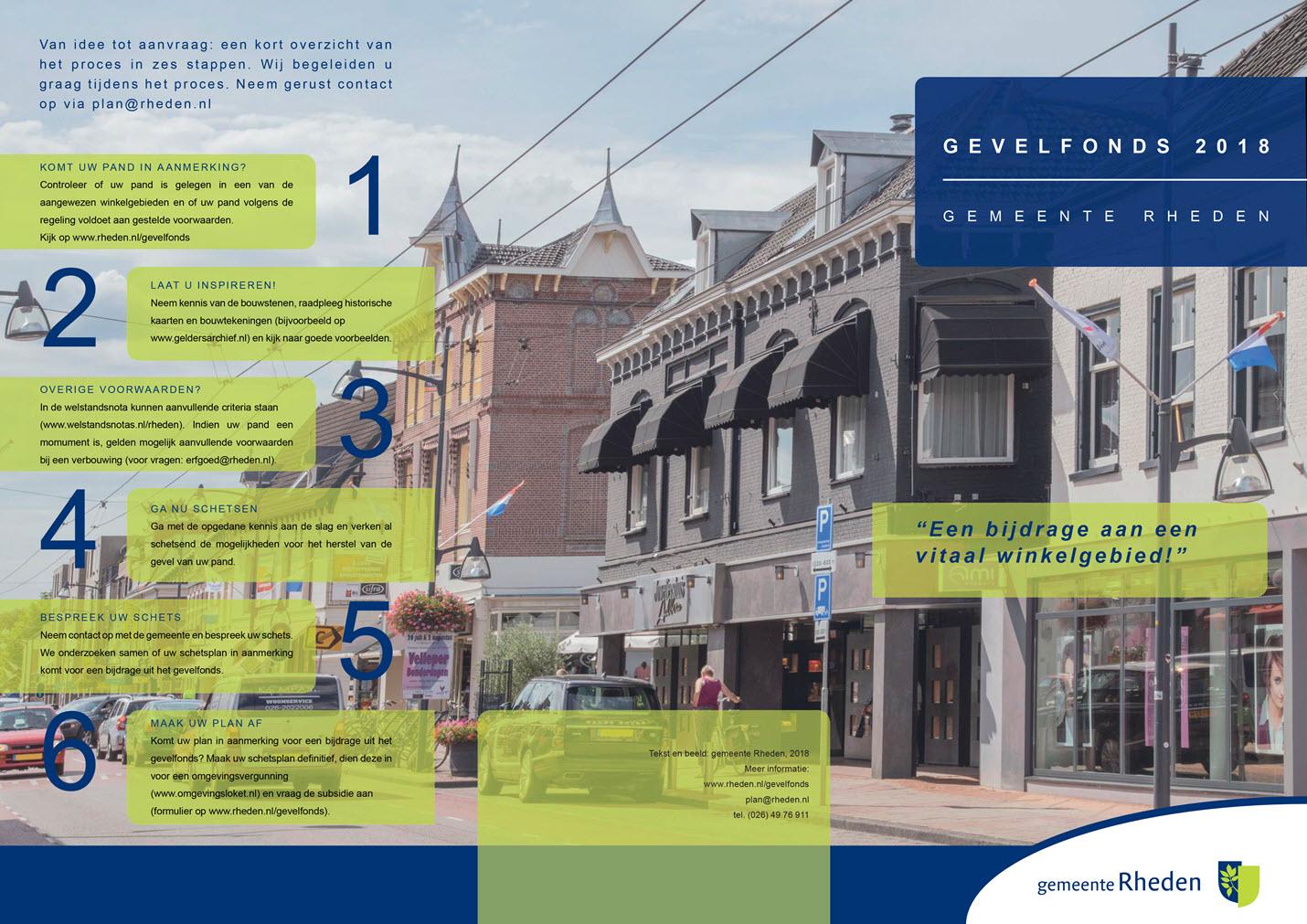 Brochure Gevelfonds gemeente Rheden