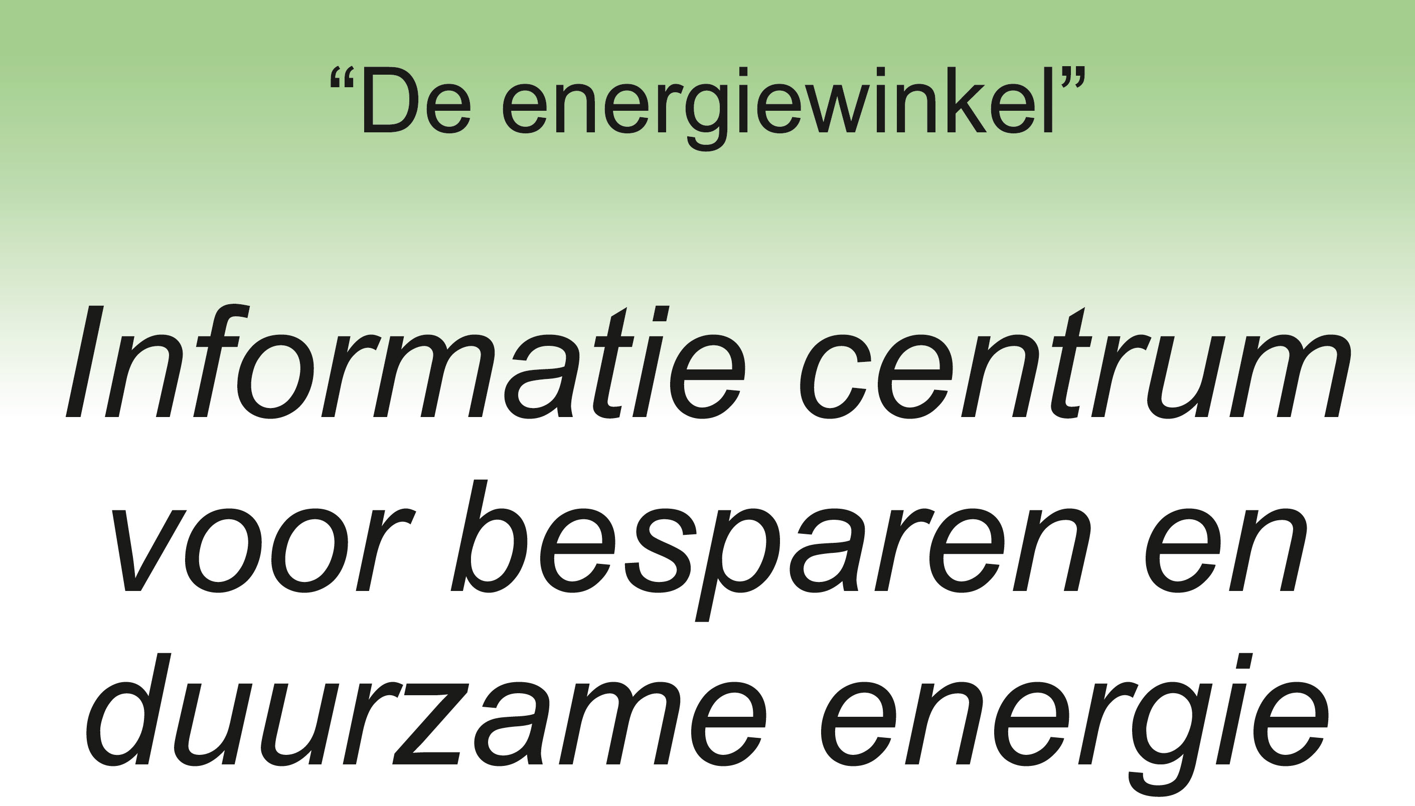 Energiewinkel Dieren