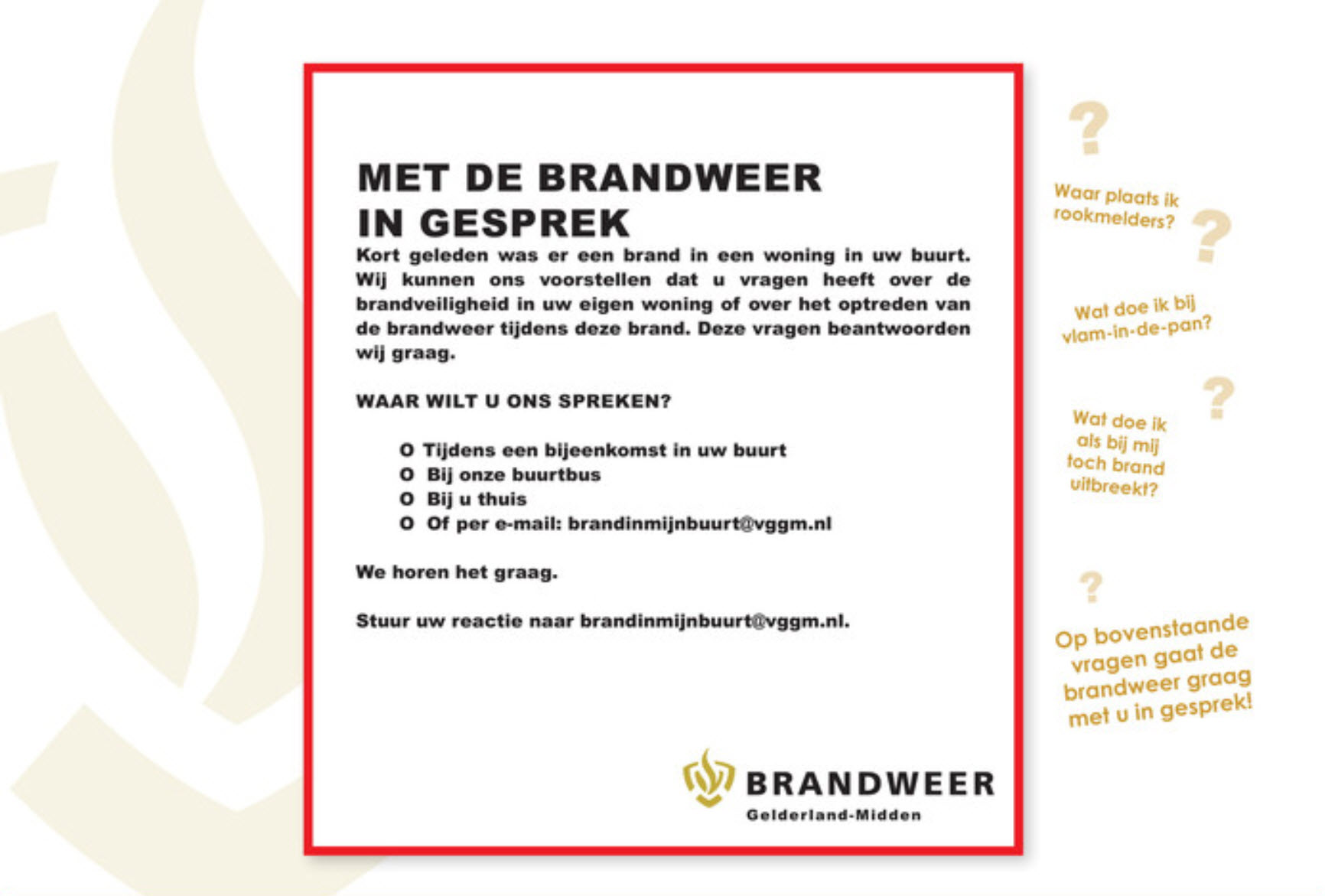 Brand in mijn buurt - Brandweer Gelderland Midden
