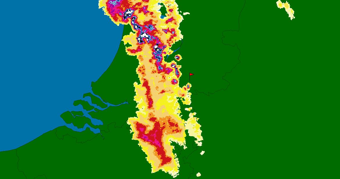 Radarbeeld Tornado Rheden - Meteogroup Wageningen