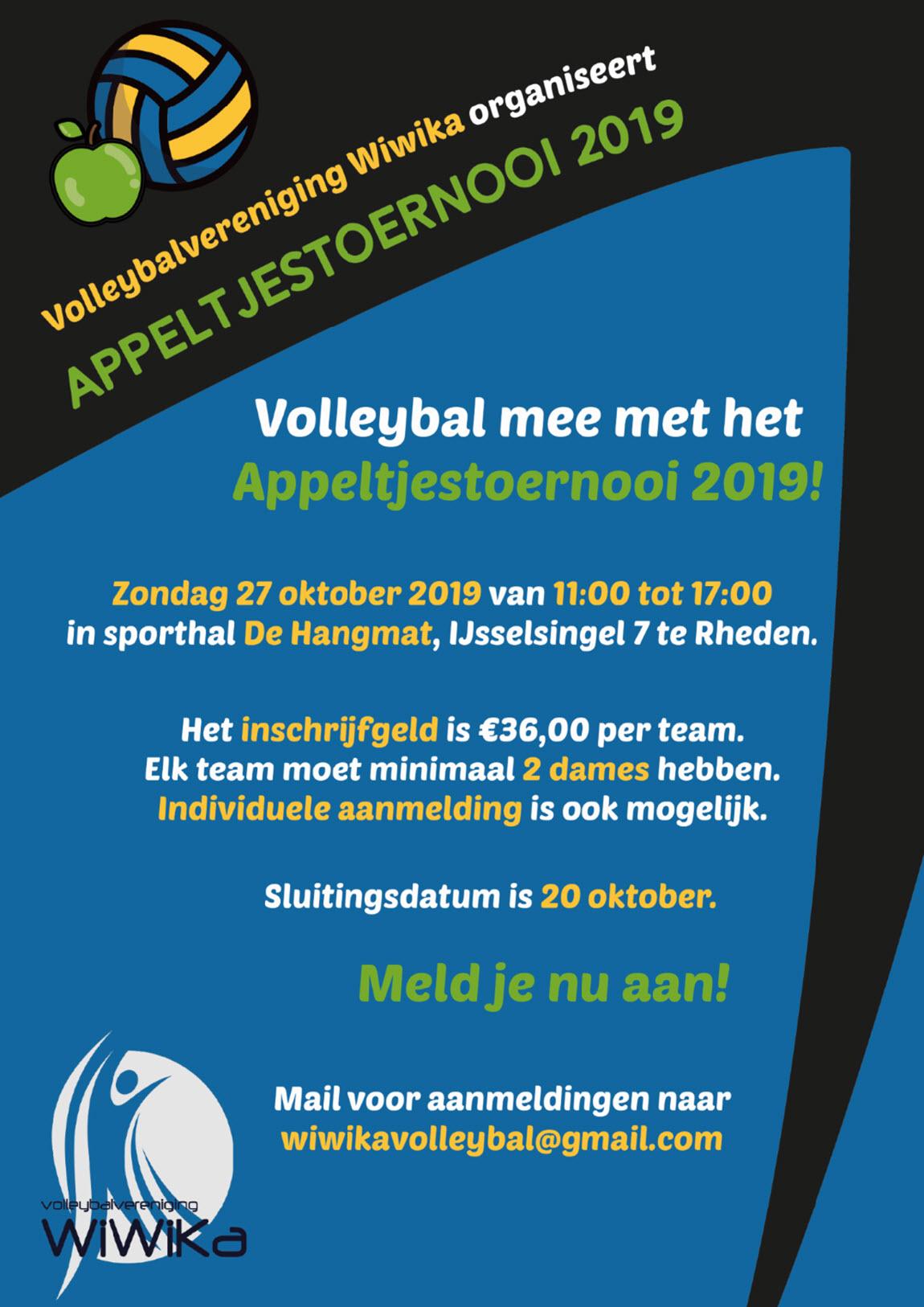 Appeltjestoernooi Volleybalvereniging Wiwika Rheden