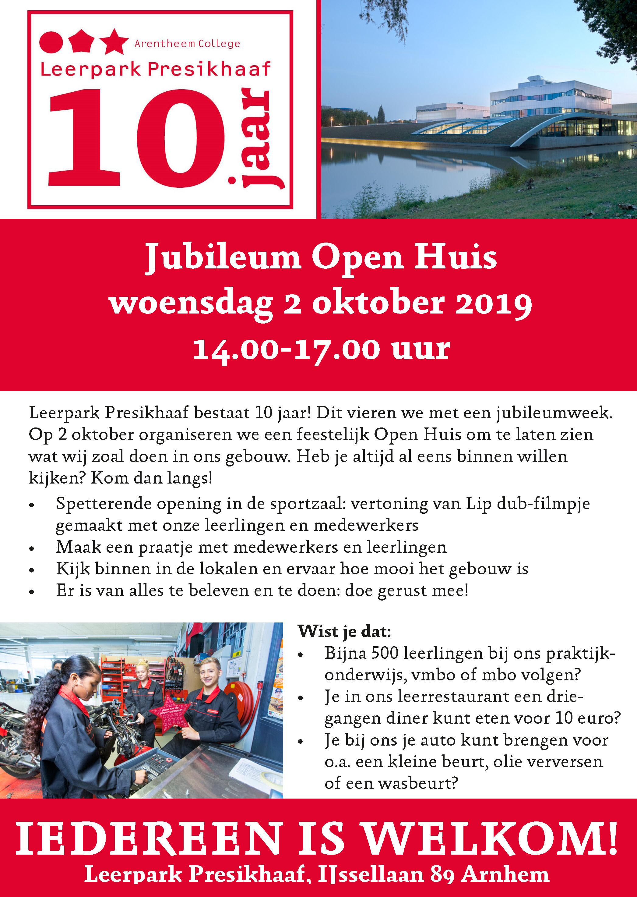 Leerpark Presikhaaf Jubileum Open Huis