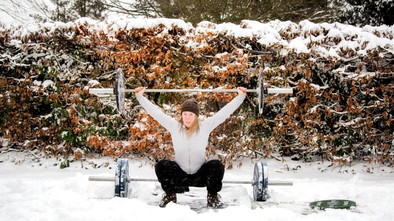 Training in de sneeuw - Karin Fikse